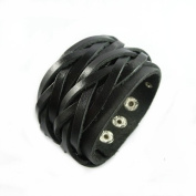 Fashion Punk Adjustable Leather Wristband Cuff Bracelet - Great for Men, Women, Teens, Boys, Girls Sl2460