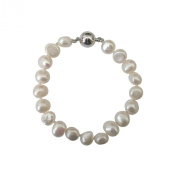 StunningBoutique Cultured Freshwater Pearl Bracelet 8-9mm 7.5 nches White Pearls Bracelet *Presented in gift Box*