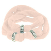 Ribbon bracelet made with. ELEMENTS - rose with three Rondelles