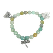 Bracelet made of amazonite and Charms
