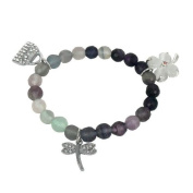 Bracelet made of fluorite and Charms