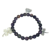 Bracelet made of amethyst and Charms