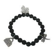 Bracelet made of Onyx and Charms