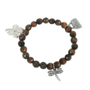 Bracelet made of tiger eye and Charms