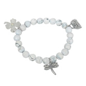 Bracelet made of howlite and Charms