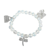 Bracelet made of opaline and Charms