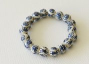 Hand Crafted Chinese Feng Shui Porcelain Beads Bracelet