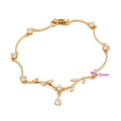 Simply Glamorous Jewellery And Gifts Shop - 9ct Gold Filled Bracelet with Cubic Zirconia 18cm