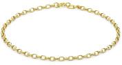 "9ct Yellow Gold Diamond Cut Link Bracelet 19cm/7.5"""