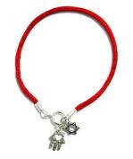 Mizze Made For Luck Jewellery Star Of David & Hamsa Hand Red String Bracelet