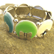 """Bracelet of 'french touch' """"Macarons"""" green."""