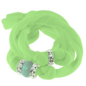 Ribbon bracelet made with. ELEMENTS - with three Rondelles and one Pearl Crystal Jade