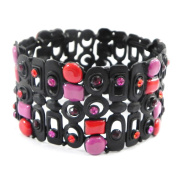 """Bracelet 'french touch' """"Sissi"""" pink red black."""
