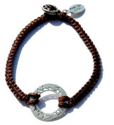 I Am My Beloved and My Beloved Is Mine Handmade Bracelet for Men in Brown by MIZZE