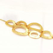 "Bracelet of 'french touch' ""Antica"" golden."