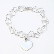 Linked Hearts Bracelet-Romantic Silver Jewellery