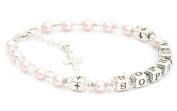 Childrens Name Bracelet - First Holy Communion Gift - Boxed