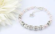 Twinkle Star Childrens Name Bracelet - Christening Gift - Boxed