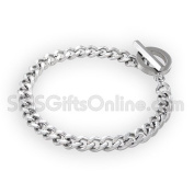 Stainless Steel 21.00cm Diamond Cut Curb Barcelet - Weight 22.30 grammes approx.