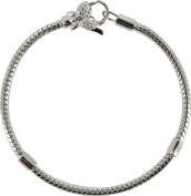 Chrysalis Silver 18Cm Bracelet With Butterfly Clasp
