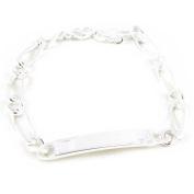 """Identity bracelet silver """"Identité"""" 19 cm (7. 48'') 5 mm (0. 20'')."""