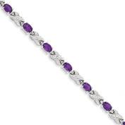 Sterling Silver Amethyst Bracelet - JewelryWeb