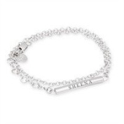 Sheena Shona Jewellery 50th Birthday Gift Engraved Name On A Sterling Silver Double Wrap Friendship Bracelet