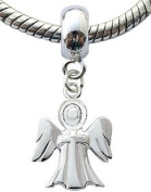 Silver charms by BodyTrend © - Guardian Angel Design fits all pandora type bracelets & necklaces - hand finisned and polished to a fine jewellery standard - packed in a lovely velvet pouche