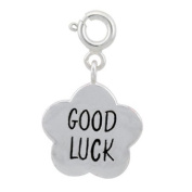 "Sterling Silver Flower ""Good Luck"" Charm"
