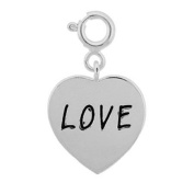 "Sterling Silver Heart ""Love"" Charm"