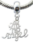 Silver charms by BodyTrend © - I am no Angel Design fits all pandora type bracelets & necklaces - hand finisned and polished to a fine jewellery standard - packed in a lovely velvet pouche
