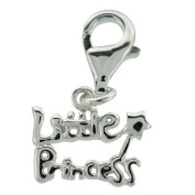 'Little Princess' Clip-On Charm Bead - Sterling Silver - for Thomas Sabo Style Bracelets