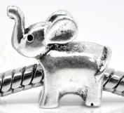 Elephant - Silver Plated Charm Bead - fits Pandora, Chamilia etc style Bracelets - SpangleBead