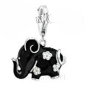 Dream Charms and Silver Jewellery Black Elephant Charm