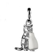 Dream Charms and Silver Jewellery Cat with the Cream Charm