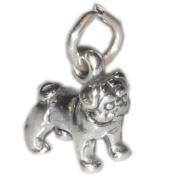 Pugs Dogs Charms .925 x 1 Pug Dog sterling silver charm SSLP3554