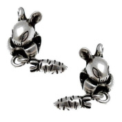 Acosta Beads - Antique Bunny Rabbit Spacers - Slide on & Off Bead Charms