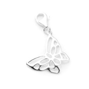 TheCharmWorks Sterling Silver Meadow Butterfly Clip on Charm