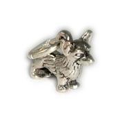Charm Pendant Dog Corgi 925 Sterling Silver