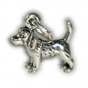 Charm Pendant Dog Beagle 925 Sterling Silver