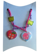 Moshi Monsters Pink & Purple Metal Chain Best Friends Necklaces