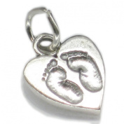 Baby Footprints sterling silver charm pendant .925 x 1 charms CF2484