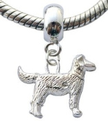 Silver charms by BodyTrend © - Lovely Dog Design fits all pandora type bracelets & necklaces - hand finisned and polished to a fine jewellery standard - packed in a lovely velvet pouche