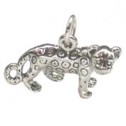 Cheetah sterling silver charm .925 x 1 SSLP2705