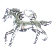 Galloping Pony Horse sterling silver charm .925 x1 Ponies Horses Charms SSLP1625
