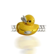 Bling Jewellery Gold Vermeil Rubber Ducky Sterling Silver Animal Bead Fits Pandora