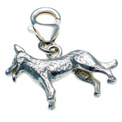 Welded Bliss Sterling 925 Silver Dog with Lolling Tongue Clip On Charm WBC1397