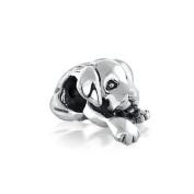 Bling Jewellery 925 Silver Cute Puppy Dog Bead Fits Pandora Chamilia Troll Biagi