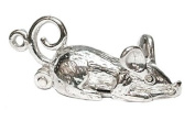 CLASSIC DESIGNS Sterling Silver 925 Opening Cat In Mouse Charm Reveal A Cat Inside The Mouse N406