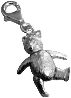 Sterling Silver Teddy Bear Moving Arms & Legs Clip Charm Supplied in Luxury Presentation Box
